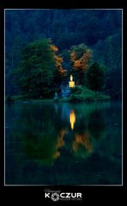 königssee sziget szimmetrikus fotó kompozíció