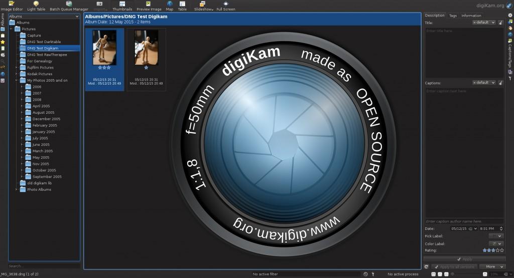 digikam képszerkesztő szoftver lightroom alternatíva