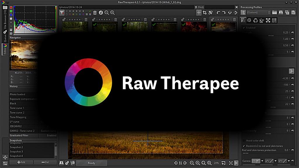 raw therapee logó felhasználói felület lightroom alternative