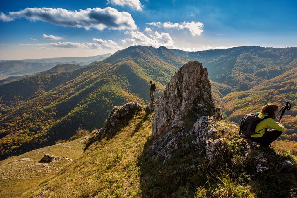 Turisták a Torockó hegységben nyaralás fotózás