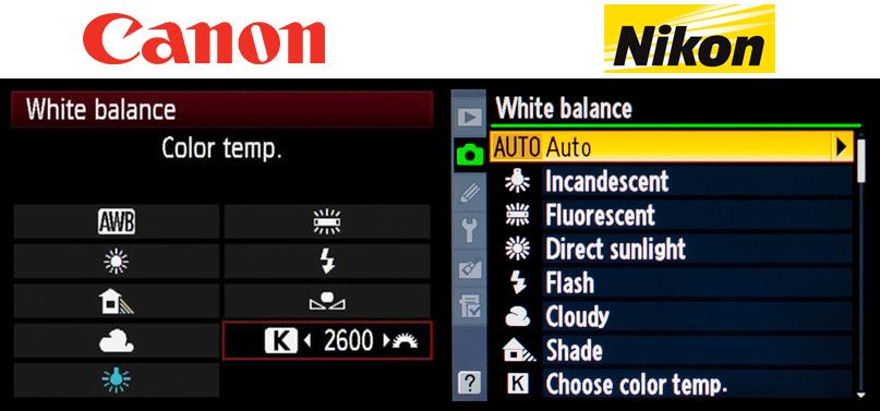 fehéregyensúly colorbalance wb színhőmérséklet kelvin napfény felhős menü